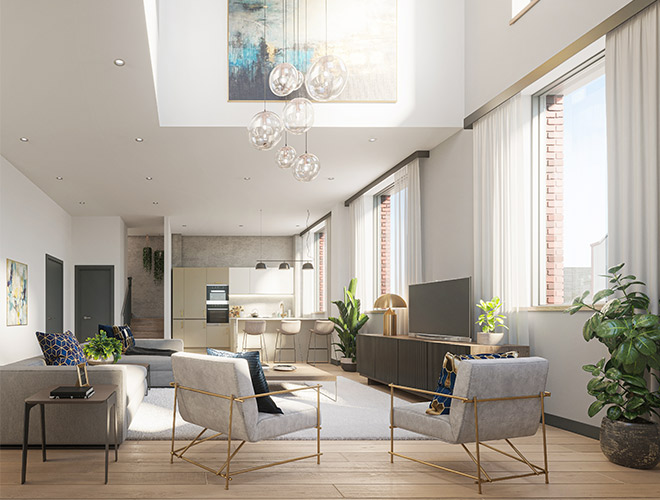 New Cross Central Manchester scheme of 80 townhouses & apartments launched - FEC